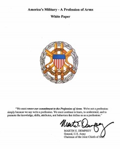 Profession of arms - Essay Example