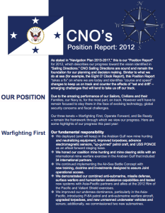 CNO Position Report 2012