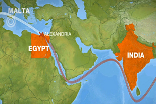 Alexandria Submarine Cable Break