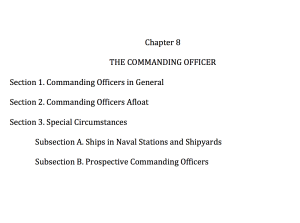 Chapter 8 The Commanding Officer