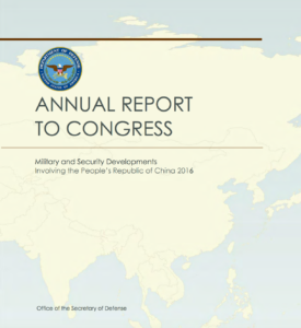 2016 China Pentagon Report